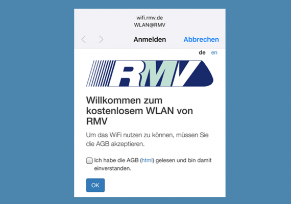 RMV-WLAN Screenshot